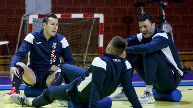 Zagreb: Trening hrvatske rukometne reprezentacije uoči kvalifikacija za Olimpijske igre