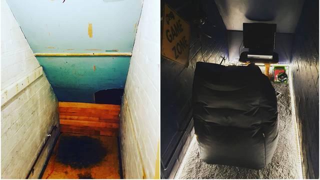 Stari prostor ispod stepenica je pretvorila u pravu gaming sobu