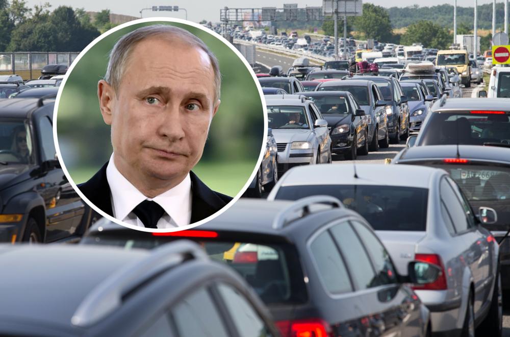 Kaos zbog Putina u Sloveniji: Kolone i zastoji na cestama