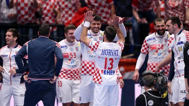 Hrvatska i Njemačka u utakmici 2. kola skupine I Europskog prvenstva u rukometu