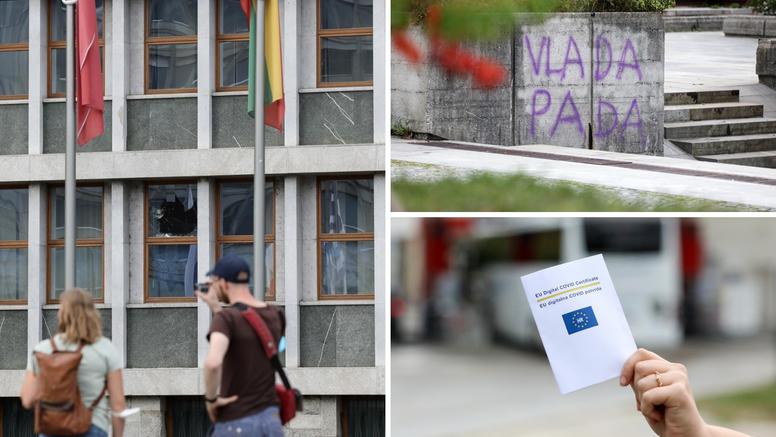 Neredi u Sloveniji: 'Odjednom je netko duboko u gomili bacio  baklju i krenula je makljaža'
