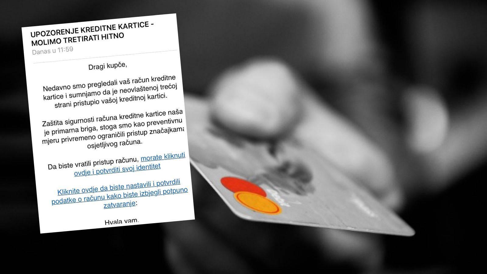 Oprez! Pojavile se lažne poruke o pristupu kreditnim karticama