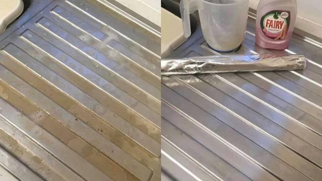 Aluminijska folija tajna je za blistav i čist sudoper svaki put