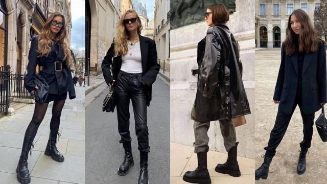 Samozatajni crni minimalizam uz visoke i niske vojničke čizme