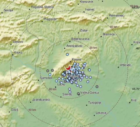 Opet potres u Zagrebu: 'Tresla se stakla, čuo sam čudan zvuk'