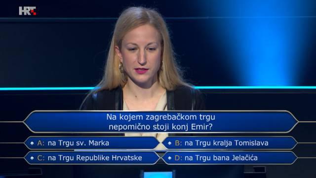 Natjecateljica uz pomoć znalaca preskočila pitanje o poznatom konju: Znate li točan odgovor?