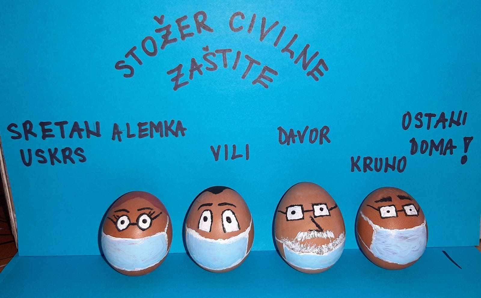 Oslikali uskršnje pisanice u liku Vilija, Alemke, Davora i Krune
