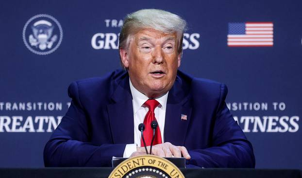 U.S. President Trump participates in roundtable discussion at Gateway Church in Dallas, Texas