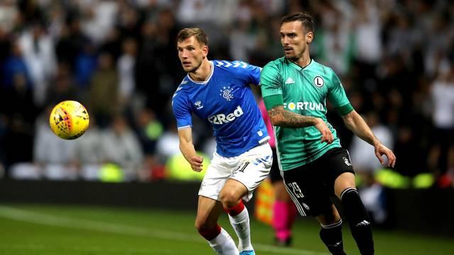 Rangers v Legia Warsaw - UEFA Europa League - Play-Off - Second Leg - Ibrox Stadium
