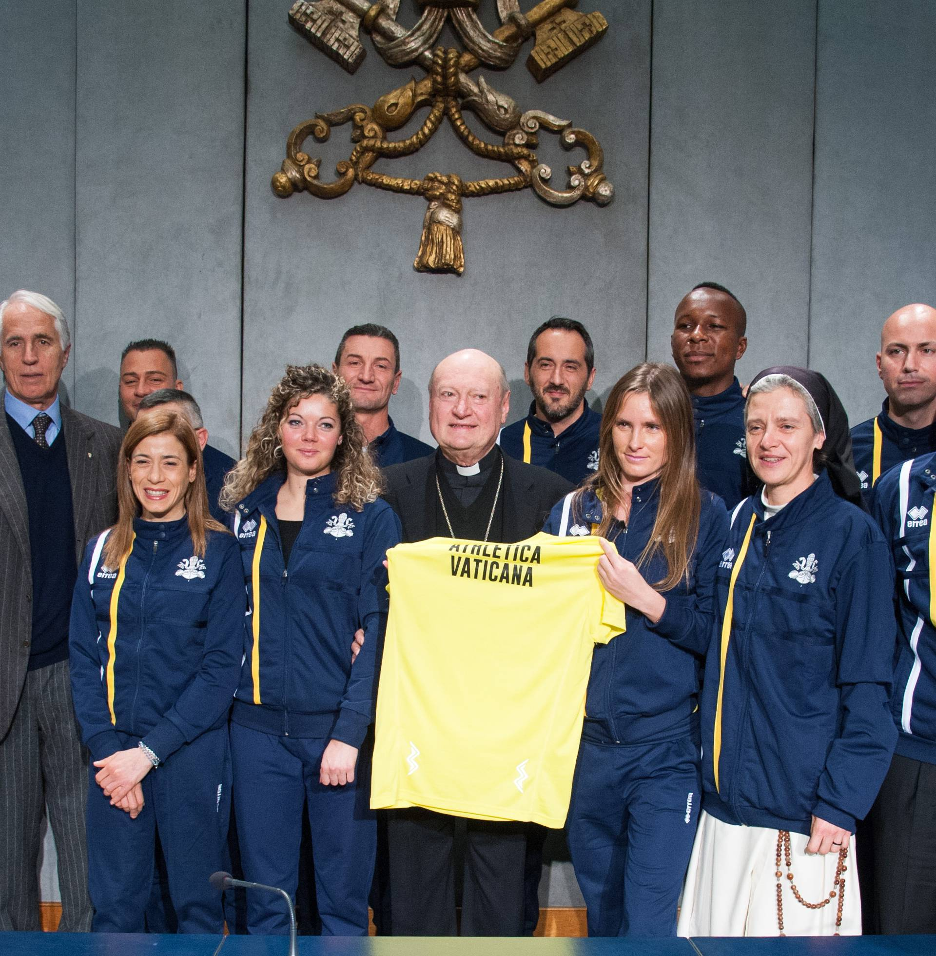January 10, 2019 : Press Conference to present Vatican Athletics and the Bilateral Agreement with the Italian National Olympic Committee (CONI).