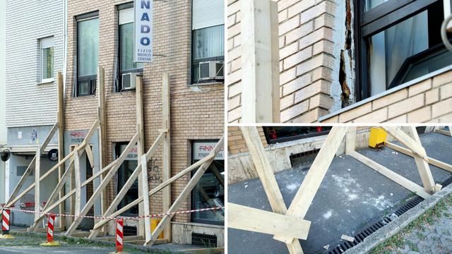 Stanari vadili stvari iz zgrade u Zagrebu: 'Pukla nam je fasada'