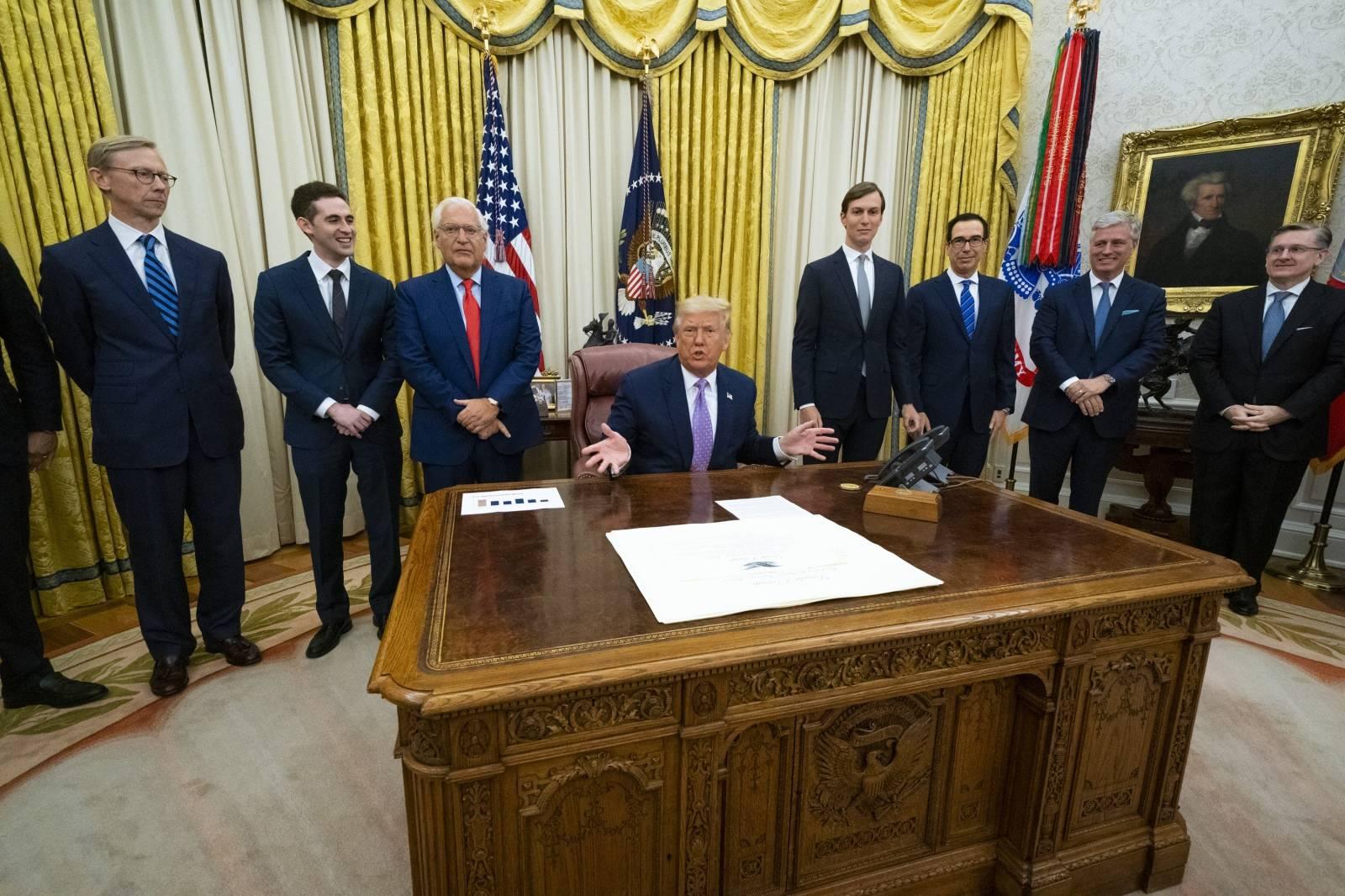 Trump Announces Israel-UAE Diplomatic Ties