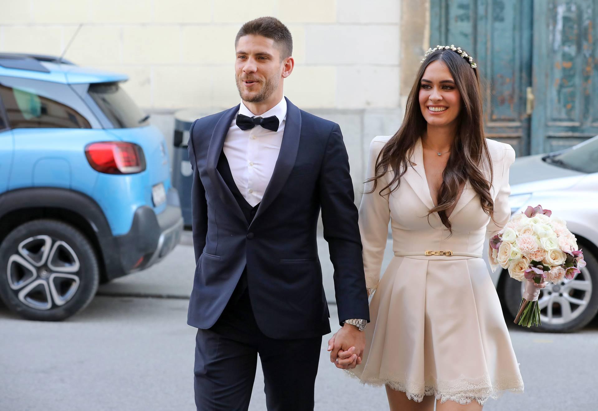 Zagreb: Vjenčanje hrvatskog reprezentativca Andreja Kramarića i Mije Ćurković