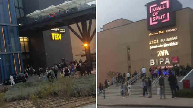 Panika u centru 'Mall of Split': Upalio se protupožarni alarm, ali je ipak bila lažna uzbuna