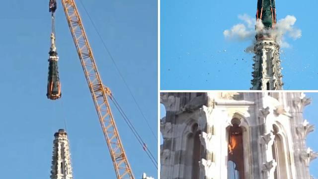 Detonacija uspjela: Odvojili su dio tornja i spustili ga na tlo