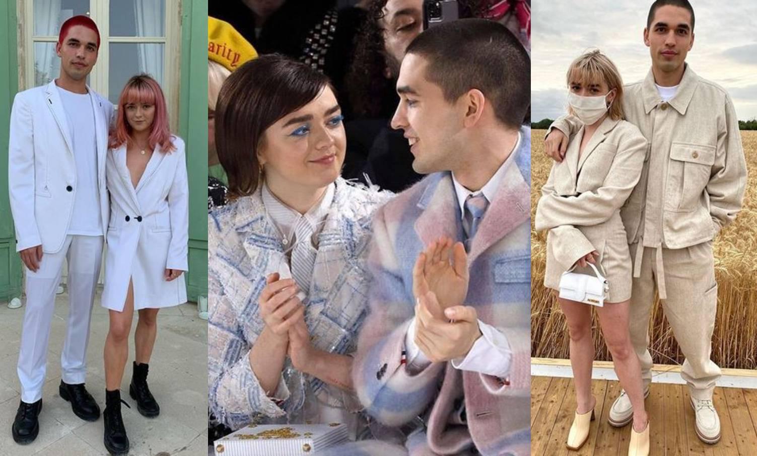 Baš su stylish: Maisie Williams i Reuben Selby nose slične odjevne kombinacije i boje