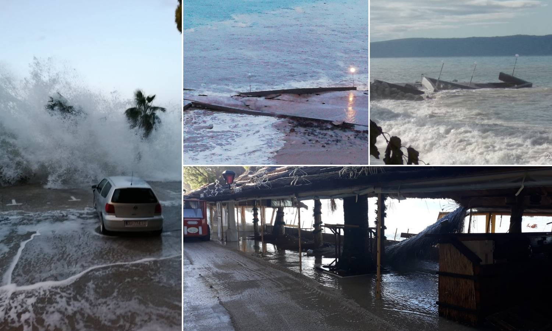 Šokantne snimke: Jaka plima je poplavila gradske rive i obalu