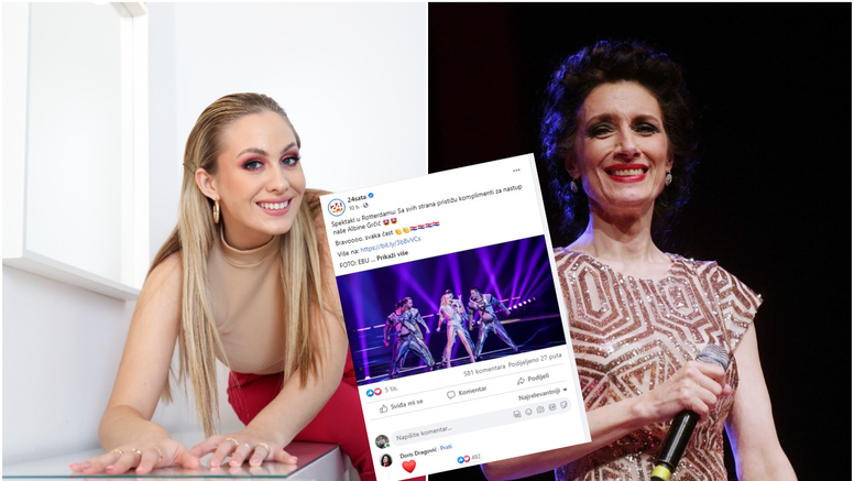 Doris Dragović na Facebooku komentirala Albinin plasman