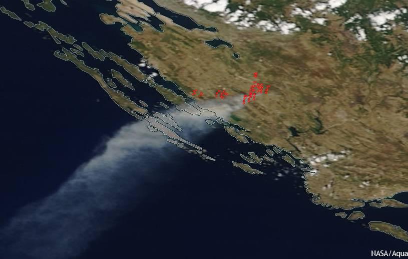 Snimka iz svemira: NASA-in satelit snimio pakao kod Zadra
