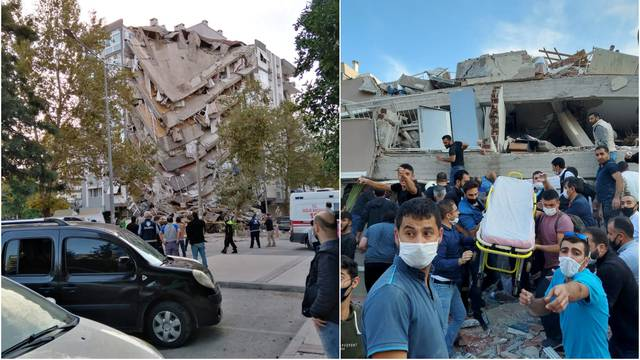 Iz Izmira stižu potresne slike: Urušene zgrade, uplašeni ljudi