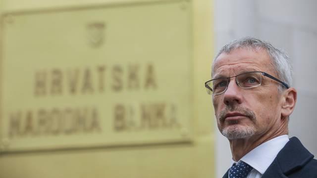 Zagreb: Nakon završetka godišnjeg brifinga HNB-a, guverner Boris Vujčić obratio se medijima