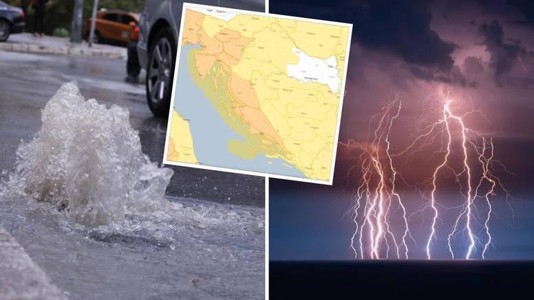 Narančasti alarm za Jadran: Velik pad temperature, uz jaku kišu moguće su bujične poplave