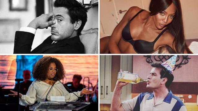 Oprah uzimala crack, Downey se počeo drogirati sa 6 godina