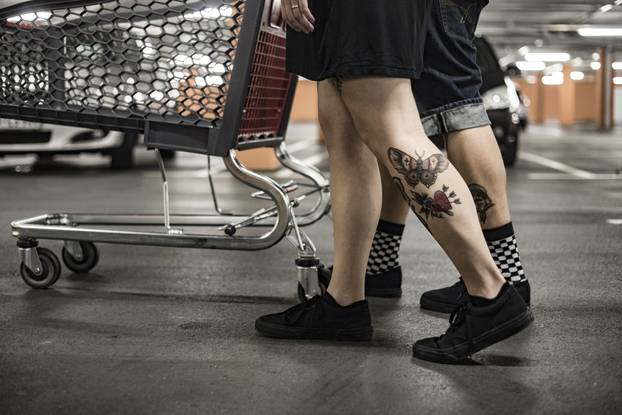 Millennial Couple Going Shopping