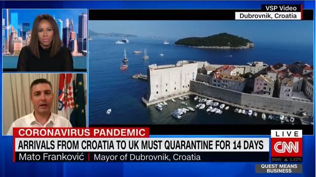 'Dubrovnik je spreman platiti test za turiste iz Velike Britanije'
