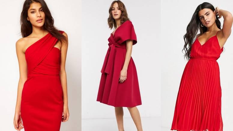 Crvena haljina u 10 kombinacija