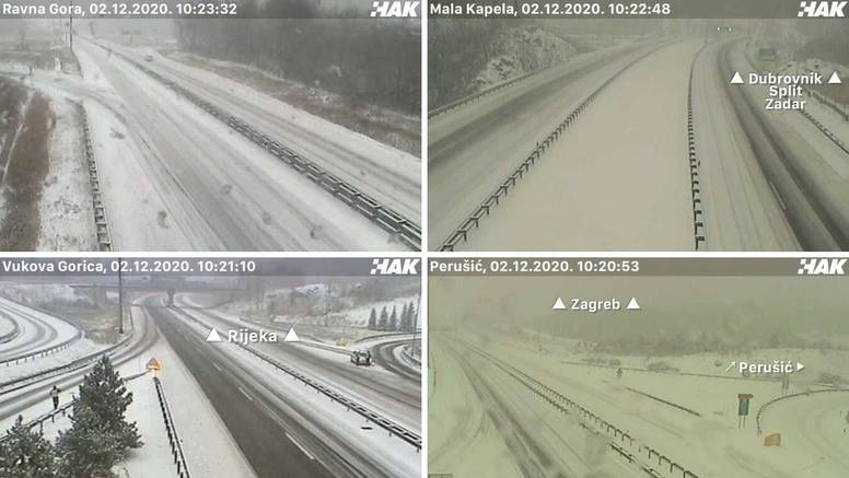 Gust snijeg u Gorskom kotaru i Lici: Nigdje bez zimske opreme
