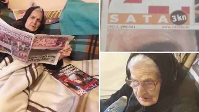 Zorka (94) obožava 24sata: 'Ne daj Bože da u kući nema novina'
