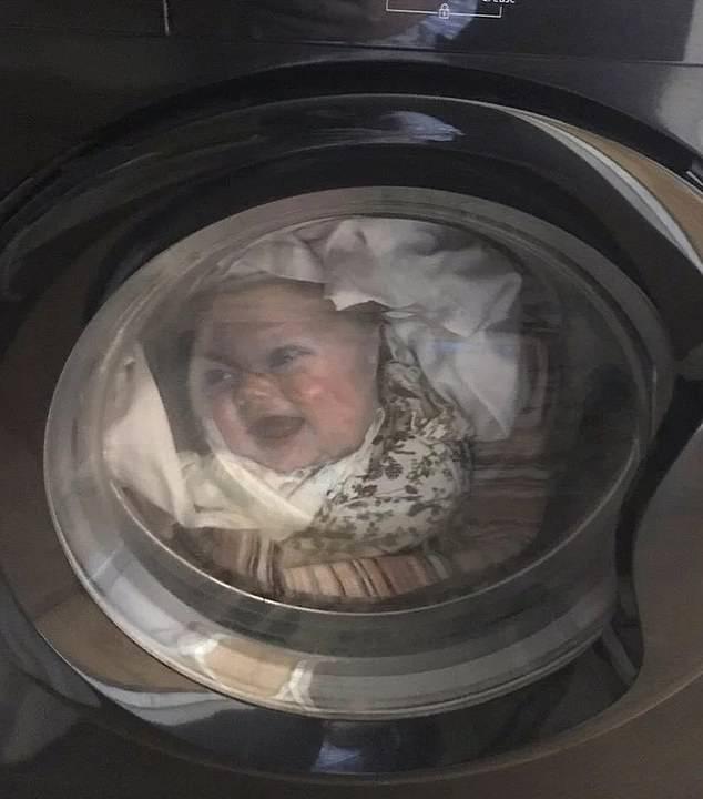 Otac skoro umro od užasa kad je vidio sina u perilici rublja