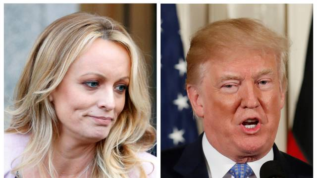 FILE PHOTO: A combination photo of Stephanie Clifford, also known as Stormy Daniels and U.S. President Donald Trump