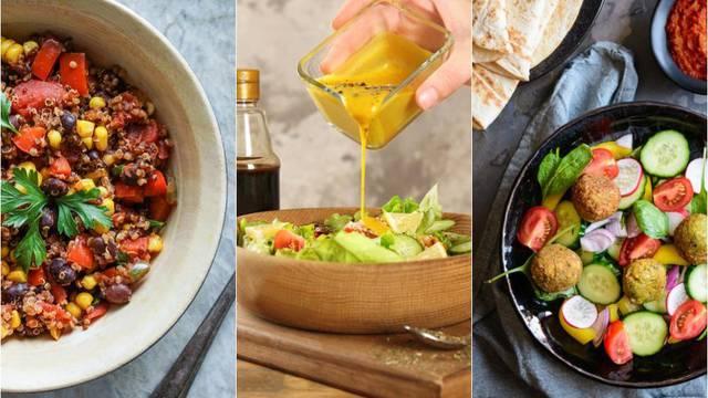 Donosimo recepte za tri sočne salate s ukusnim umacima