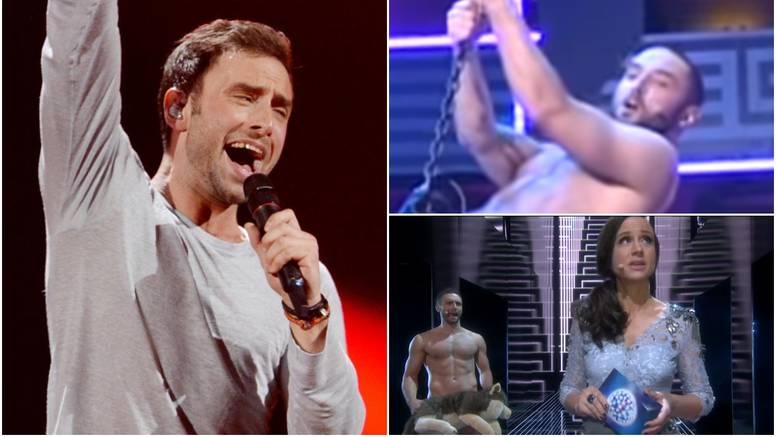 Eurovizijski pobjednik u emisiji gol pjevao i jahao veliku kuglu