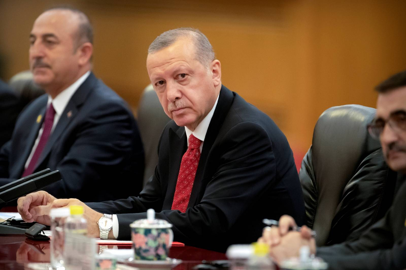 China's President Xi Jinping meets with Turkish President Recep Tayyip Erdogan in Beijing
