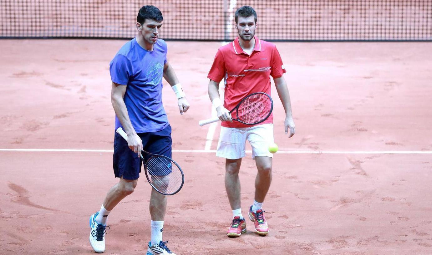 Lille: Reprezentacija Hrvatske na treningu spremna za finale Davis Cupa