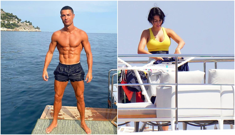 Dok Georgina vješa veš na jahti, Ronaldo pozira i 'hvata' boju...
