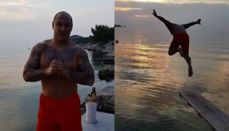 Stoka skočio u more i smrznuo se: Zatvorio je sezonu kupača