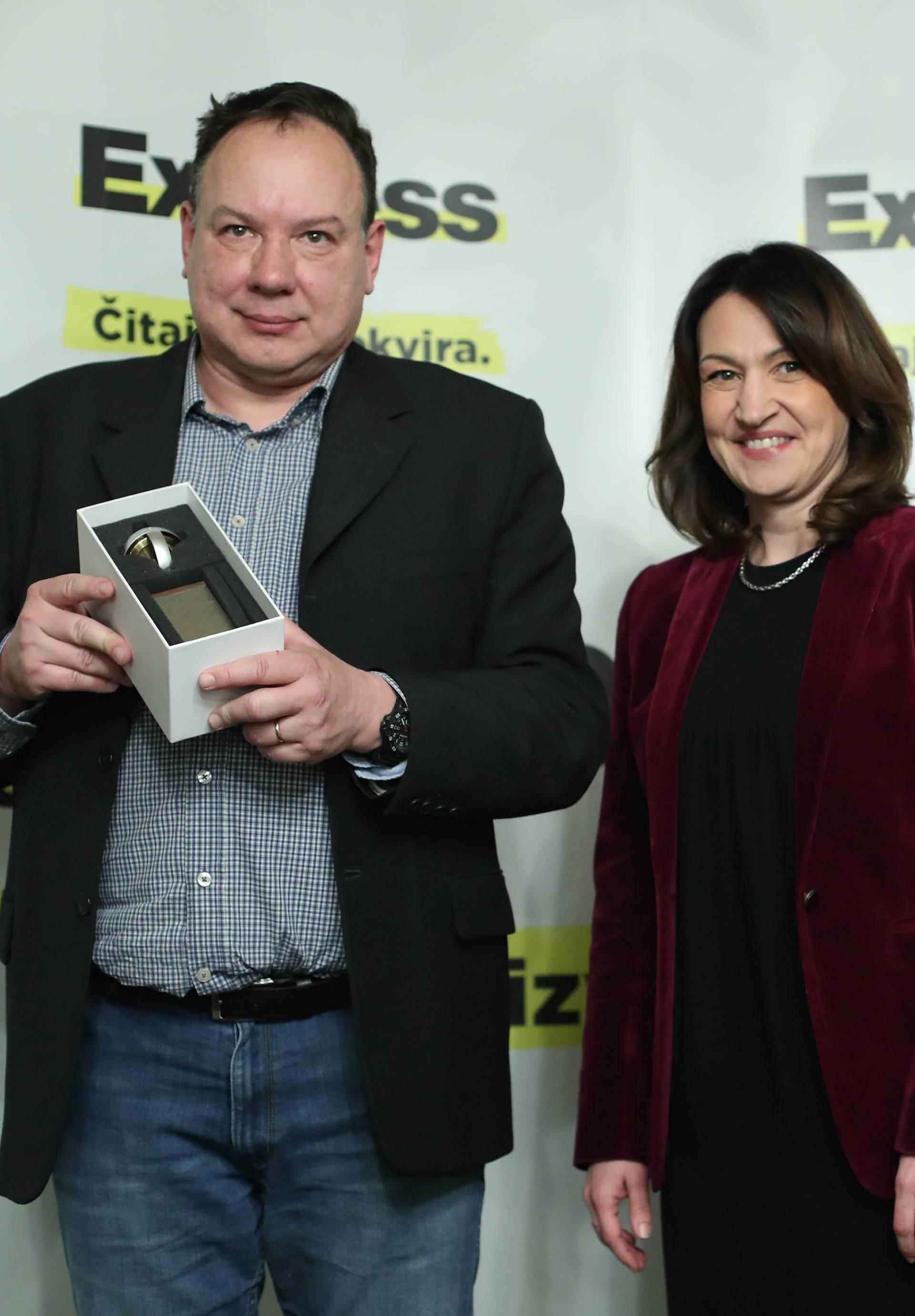 Jurica Pavičić dobitnik  nagrade FRIC za najbolju knjigu fikcijske proze