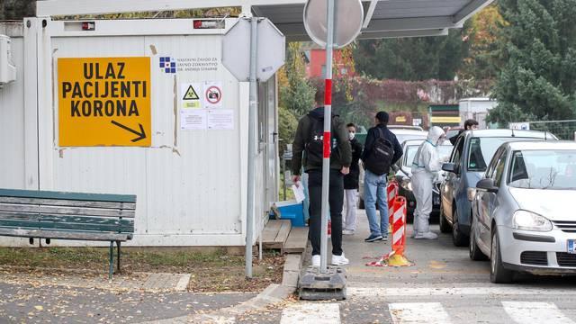 Zagreb: Drive-in testiranje na koronavirus u NZJZ  Andrija Štampar