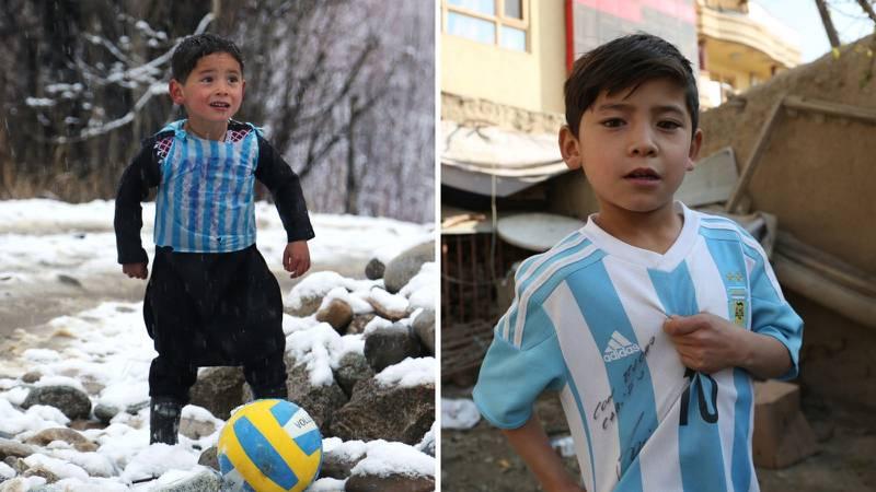 Bježao od talibana i prijetili mu: Dječak s Messijevim dresom od plastične vrećice doživio horor