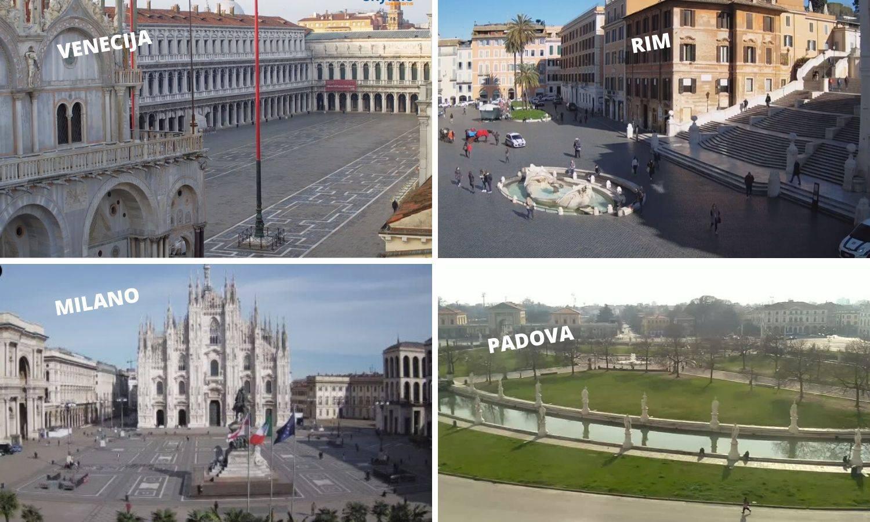 Italija je 3. dan u karanteni, sve pusto, preko 10.000 zaraženih