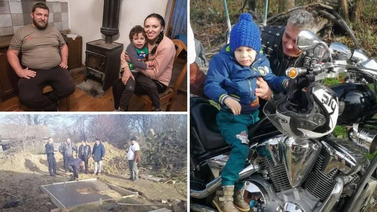 Brm, brmmm: Malom Andreju pomogli oko nove kuće pa ga posjeli na motor, oduševio se