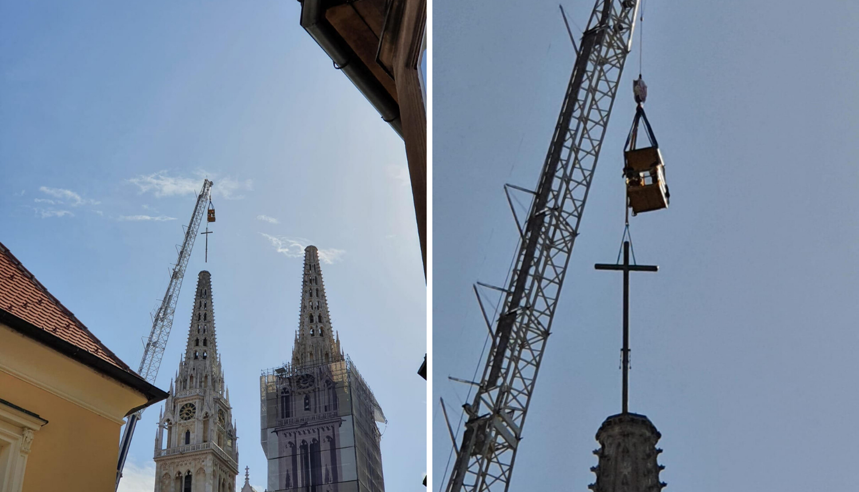 Dižu se križevi na katedralu: 'Teški su preko jednu tonu'