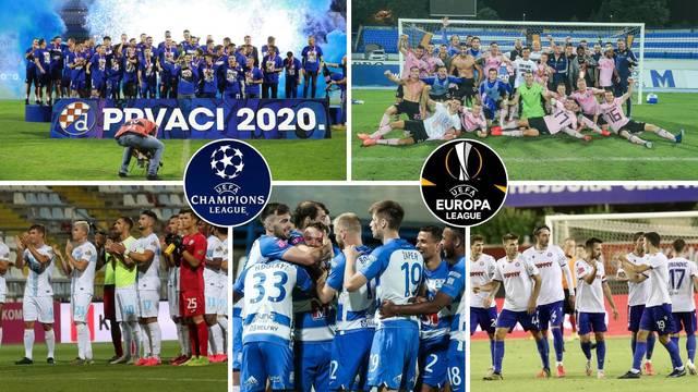 Evo kad Dinamo, Lokomotiva, Rijeka, Osijek i Hajduk igraju u Europi i tko su mogući suparnici