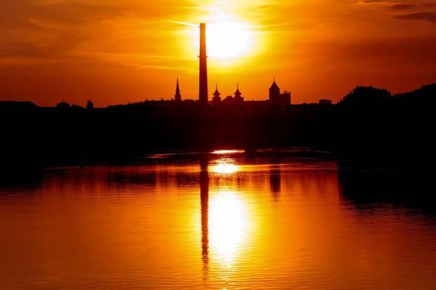 Zalazak sunaca u Osijeku