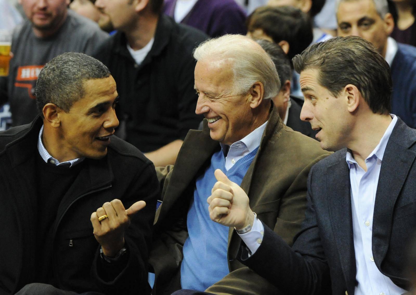 U.S. President Obama attends Georgetown vs Duke basketball game in Washington