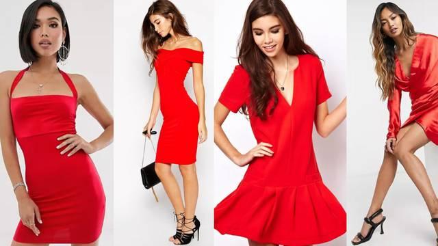 Mala crvena haljina na 7 načina